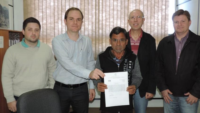 Telmo B. Rossi Junior, Alan Paulo Muller, Enio Miguel Bitencourt, Paulo Augusto Wilhelm e Marcelo Augusto Kegler.